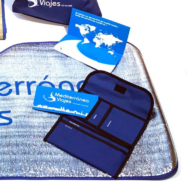 Porta documentos agencia de viajes