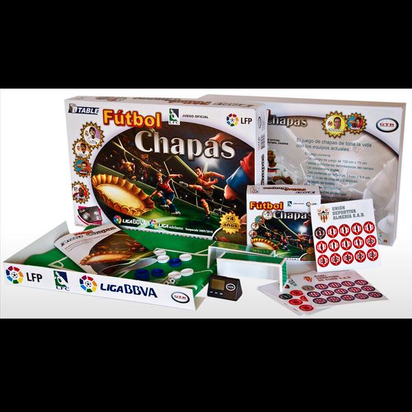 Packaging juego de mesa Chapas