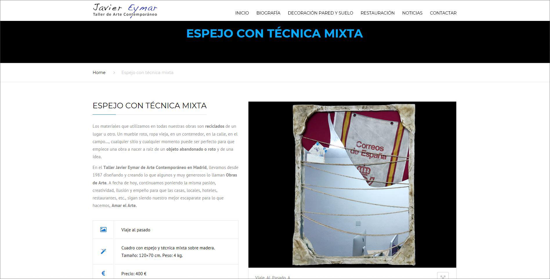 Web Javier Eymar