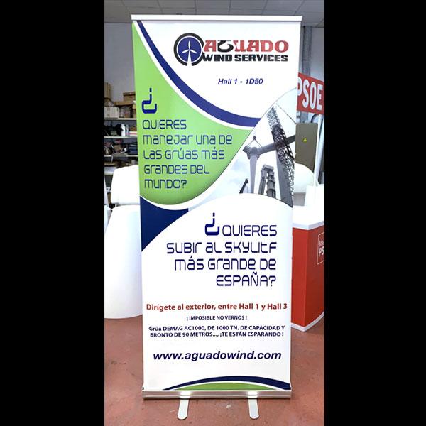Roll Up para ferias y presentaciones para empresa de aero generadores
