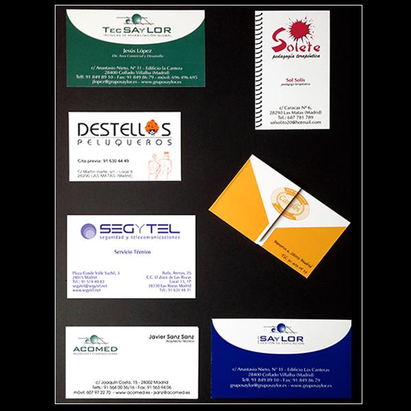 Diseño de tarjetas de visita para empresas de cualquier sector.