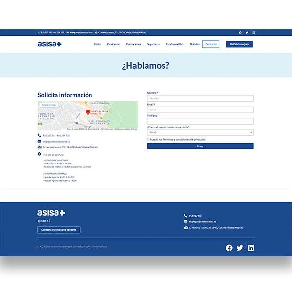 DESARROLLO WEB AGENCIA SEGUROS