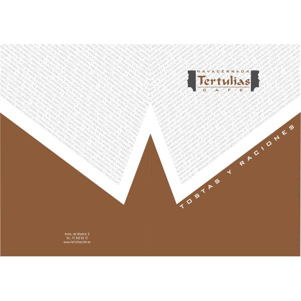 Carta cafetería en Madrid