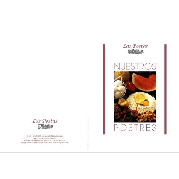Carta postres restaurante en Madrid