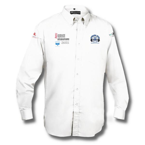 Camisa manga larga con logos bordados