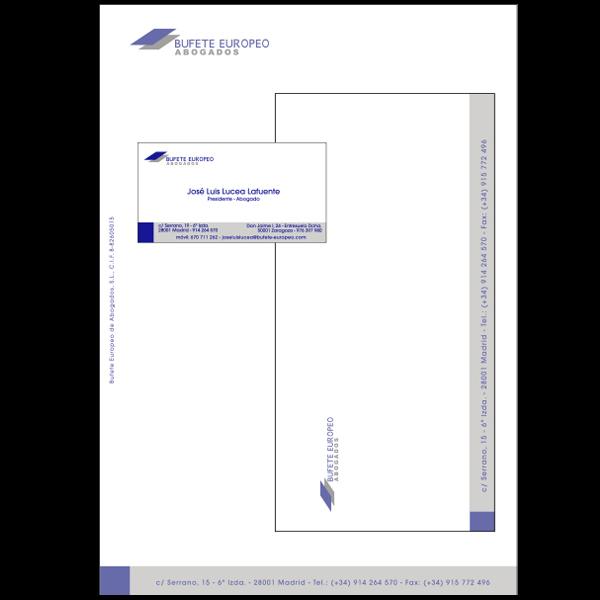 Diseño e Impresión de papelería para despacho de abogados.