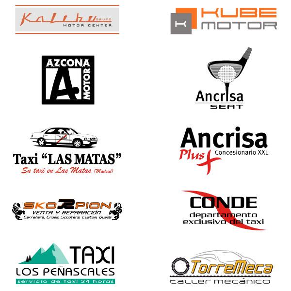 Logotipos diseñados para el sector de automoción