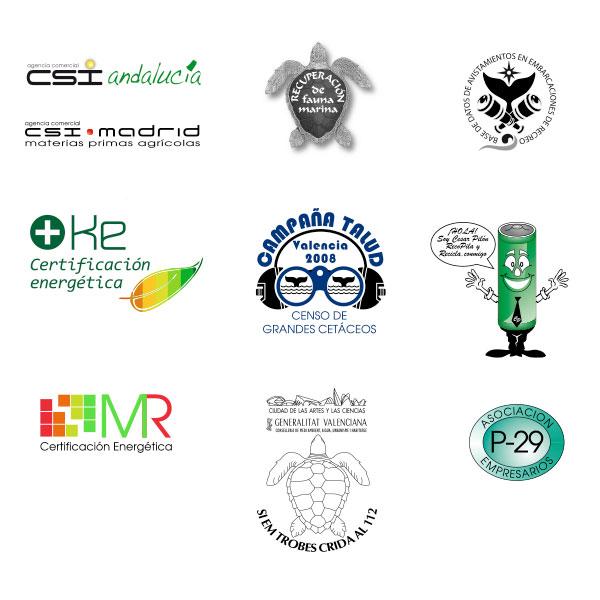 Diseño Logotipos para empresas de servicios.