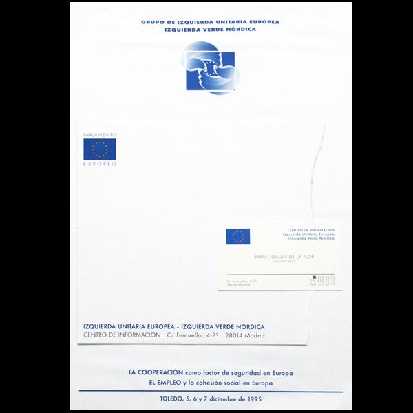 Diseño e impresión de papelería parlamento europeo.